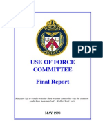 Toronto Police, Use of Force Committee Final Report, 1998