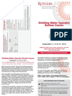 Drinking Water Operator Review Course – September 2012