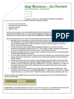 Genealogical Searching Handout