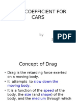 Drag Coefficient for Cars