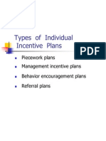 Types of Individual Incentives