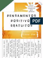 Pensamentos positivos gratuitos