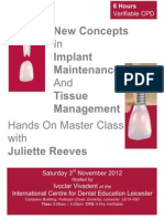 New Concepts In ImplantMaintenance  And Tissue Management