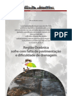 Região Oceânica sofre com falta de pavimentação e dificuldade de drenagem