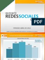Reporte de redes sociales del CEIEG, abril 2012