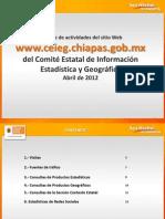Reporte del Sitio Web del CEIEG, abril 2012