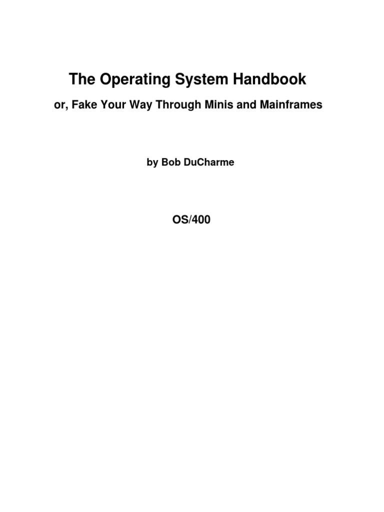 As400 for Dummies | Ibm System I | Operating System