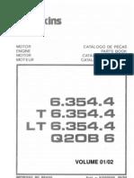PERKINS CATÁLOGO DE PEÇAS MOTOR 6354