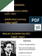 Miguel Aleman Valdez y Adolfo Ruiz Cortines