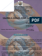 Expo Sobre Valores e Ideales en La Adolescencia
