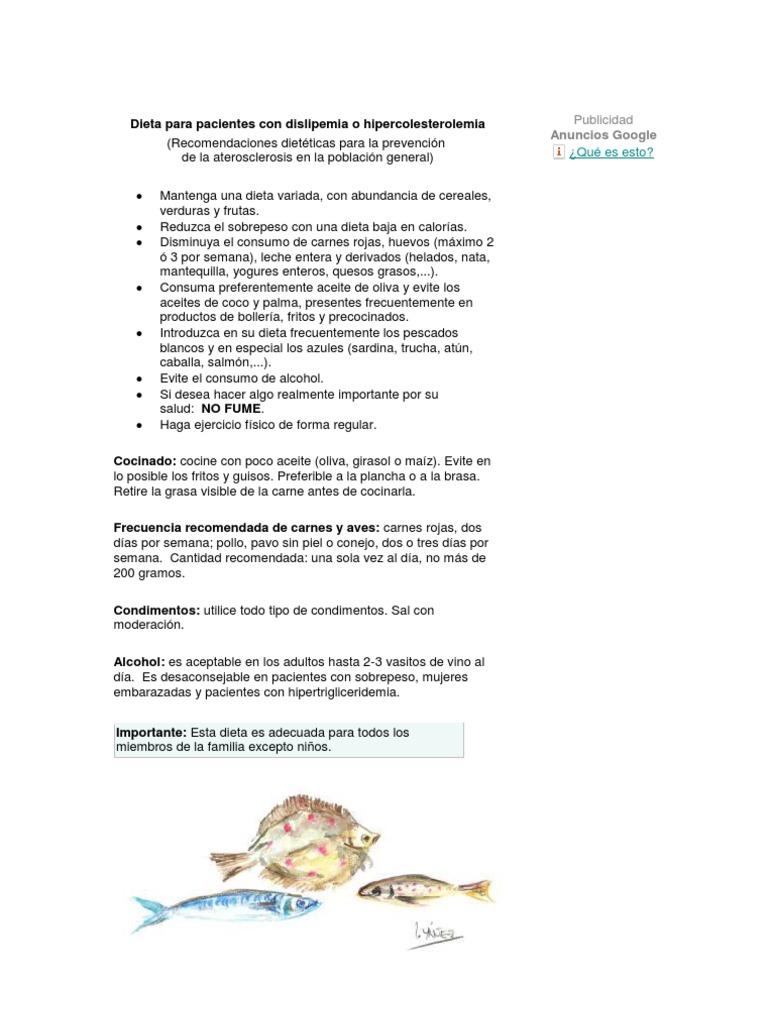 dieta hipercolesterolemia e hipertrigliceridemia