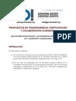 Análisis de los programas electorales, elecciones municipales y autonómicas 22 mayo 2011