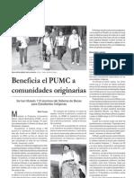 Beneficia PUMC Comunidades