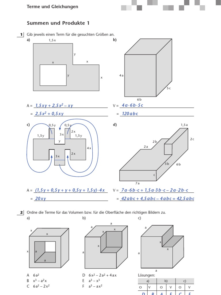 Mathematik 8.Klasse Arbeitsheft