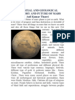 Celestial and Geological History and Future of Mars