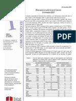 RILEVAZINE SULLE FORZE DI LAVORO - III TRIMESTRE 2007