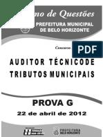 Auditor Técnico - Prova G