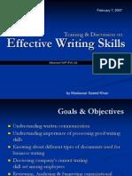 Copy of Writing Skills Mudassar Saeed Khan