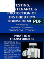 TESTING, MAINTENANCE & PROTECTION OF DISTRIBUTION TRANSFORMERS