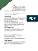 Basics of Partitioning