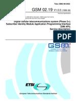 GSM 02.19