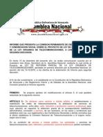 Ley Org Telecomunicaciones