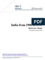 India From 1900 to 1947 Mass Violence