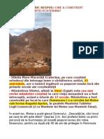 MANASTIREA SFANTA ECATERINA-Un adevar istoric nespus