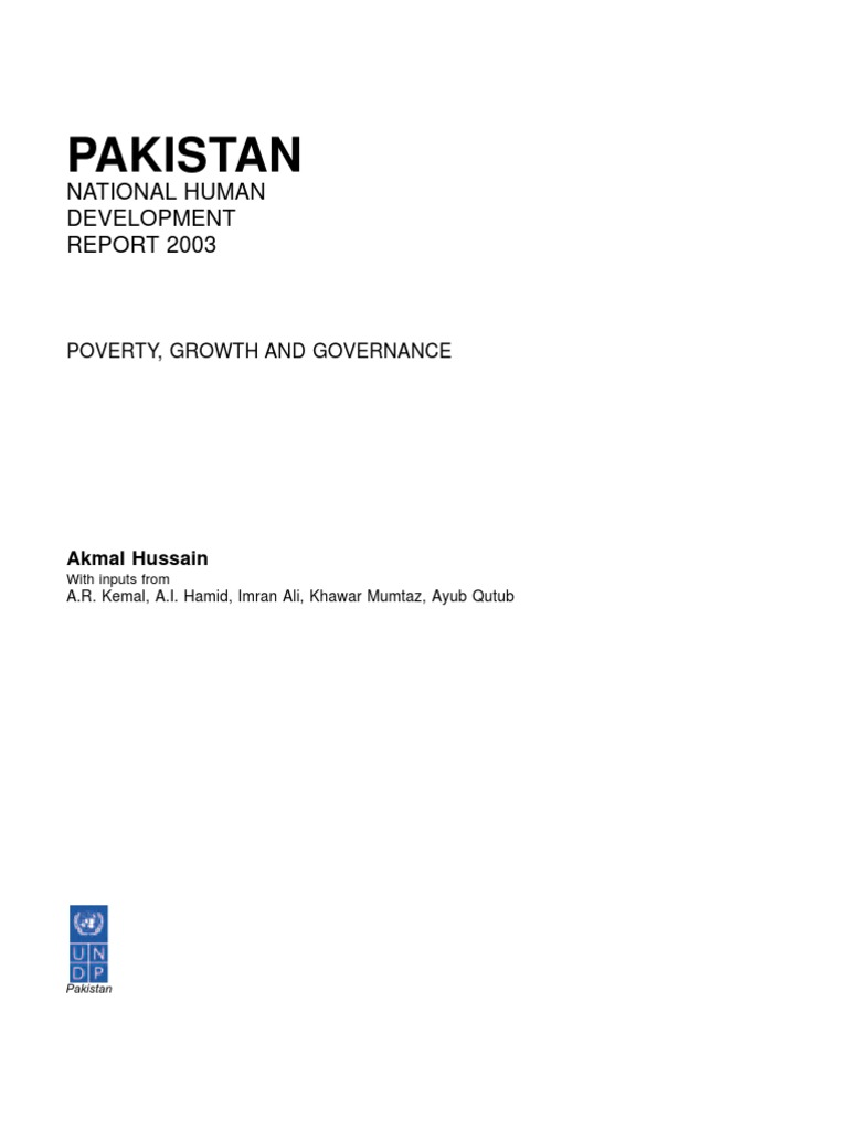 nhdr-pak-2003 | Poverty | Poverty & Homelessness