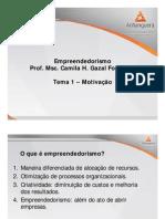 (Tema 1 e Tema 2) ADM Empreendedorismo Teleaula Slides 1 e 2