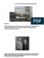 A Historia Da Microsoft e Do Sistema Operacional Windows