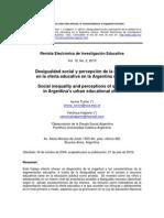 Desigualdad social y percepción de la calidad en la oferta educativa de argentina