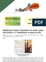 Habilitação Social  População de baixa renda terá direito a 1ª habilitação de graça na PB
