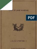 Law of Land Warfare 7
