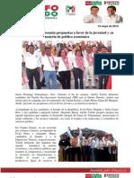Adolfo Toledo presenta propuestas a favor de la juventud y en materia de política económica