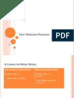 01 02 First Windows Program