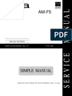 Aiwa AM-F5 MD Recorder Service Manual