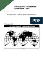 2007 USITC-Electrolytic Manganese Dioxide From Australia and China