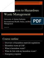 Introduction to Hazardous Waste Management ONLINE