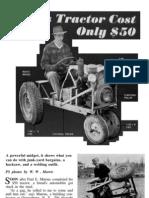 Midget Tractor Plans