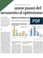 Los peruanos tienen mayor confianza en su economía