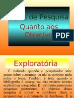 Tipos de pesquisa  2011