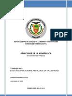 TRABAJO No. 1 -  PASOS PARA SOLUCIONAR PROBLEMAS EN UNA TUBERÍA