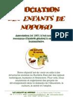 PLAQUETTE PRESENTATION - Les enfants de Nopoko