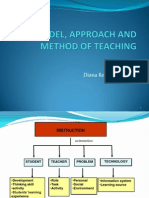 Model, Approach and Method of Teaching