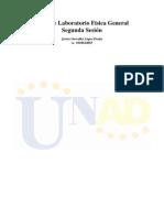 Informe Final de Lab Oratorio Segunda Sesion
