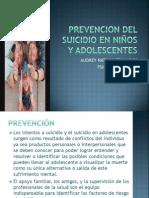 PREVENCION DEL SUICIDIO EN NIÑOS Y ADOLESCENTES