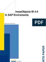 SAP Business Objects BI 4 0 in SAP Environments