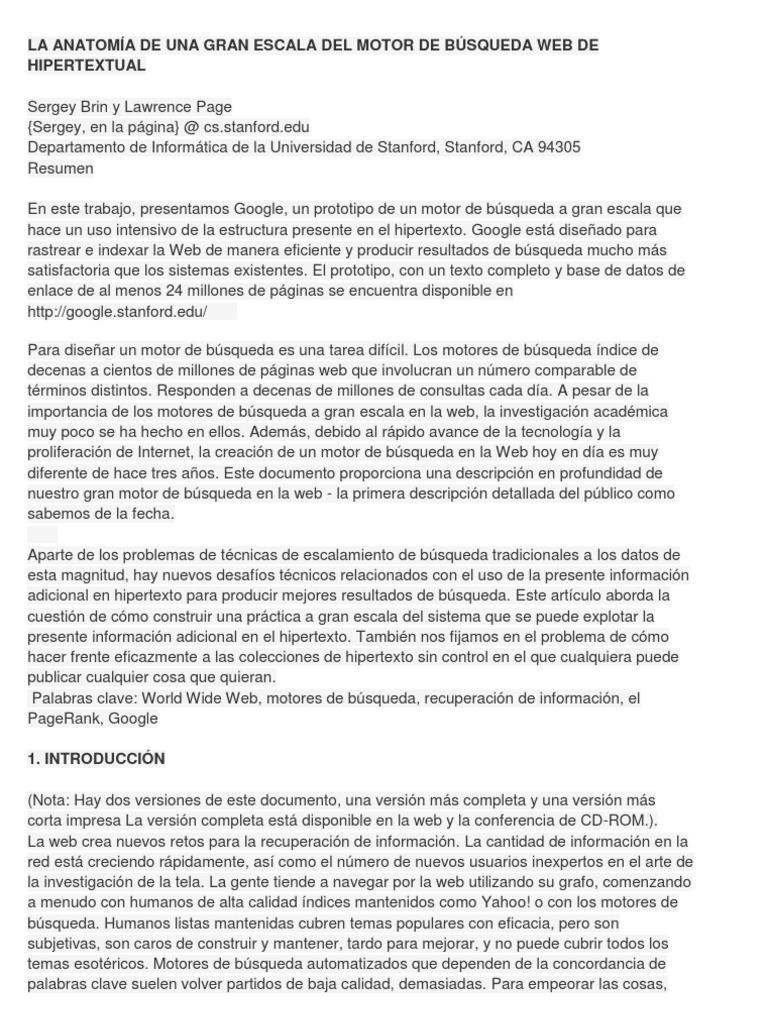 LA ANATOMÍA DE UNA GRAN ESCALA DEL MOTOR DE ...