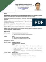 CV- Victor Antonio Ordoñez Zurita